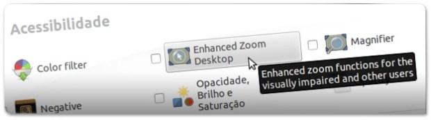 """Entre dentro das opções do Pugin """"Enhanced Zoom Desktop"""""""