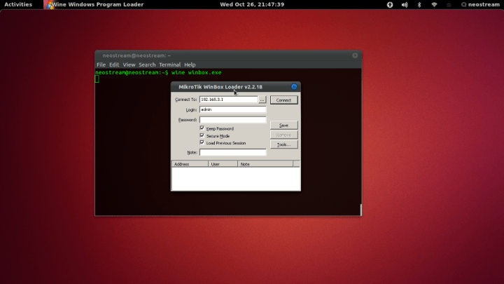winbox wine on ubuntu 11.00