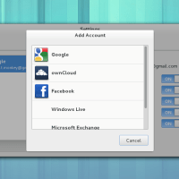 Gnome 3.8 Online Account