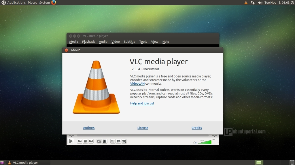 Ubuntu MATE 14.04.1 : VLC Media Player