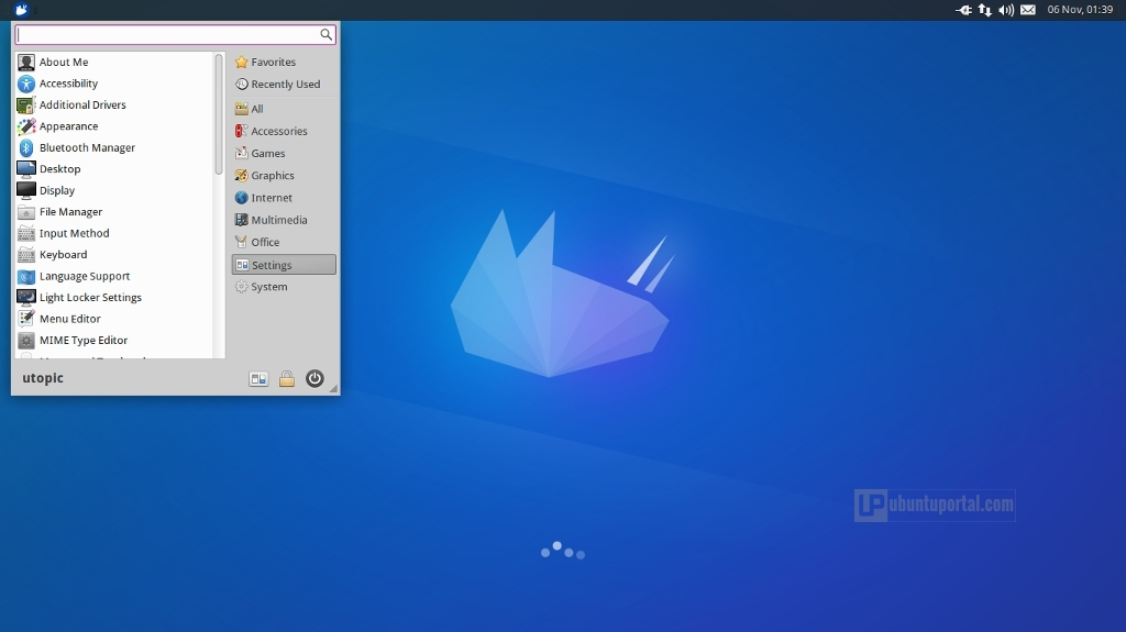 Xubuntu 14.10 - Menu Setting Category