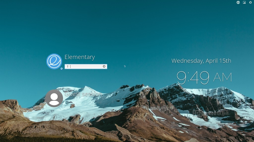 Elementary OS Freya - Lock and login screen