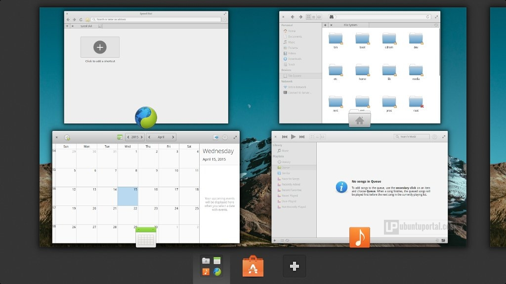 Elementary OS Freya - Workspace Switcher