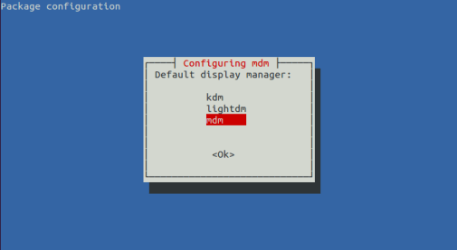 Configure display manager