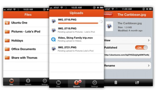 ubuntu one file app for iOS - iPad - iPhone