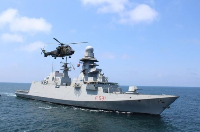 Italian Navy frigate conducts military exercise with Cypriot Navy