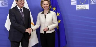 The Cyprus issue, Turkey`s illegal actions in the Exclusive Economic Zone of the Republic of Cyprus and within the Famagusta fenced off area, the EU`s next multiannual budget and the Commission`s halloumi dossier, were at the center of President Nicos Anastasiadis` meeting with President of the European Commission Ursula Von Der Leyen.