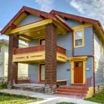 exterior view of duplex home