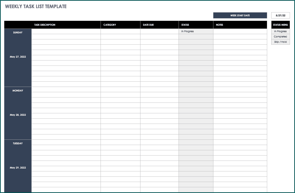 From candidate emails to company comms, we've got 600+ to choose from. Project Task Tracker Template Excel Xls To Do List Checklist Management Editable