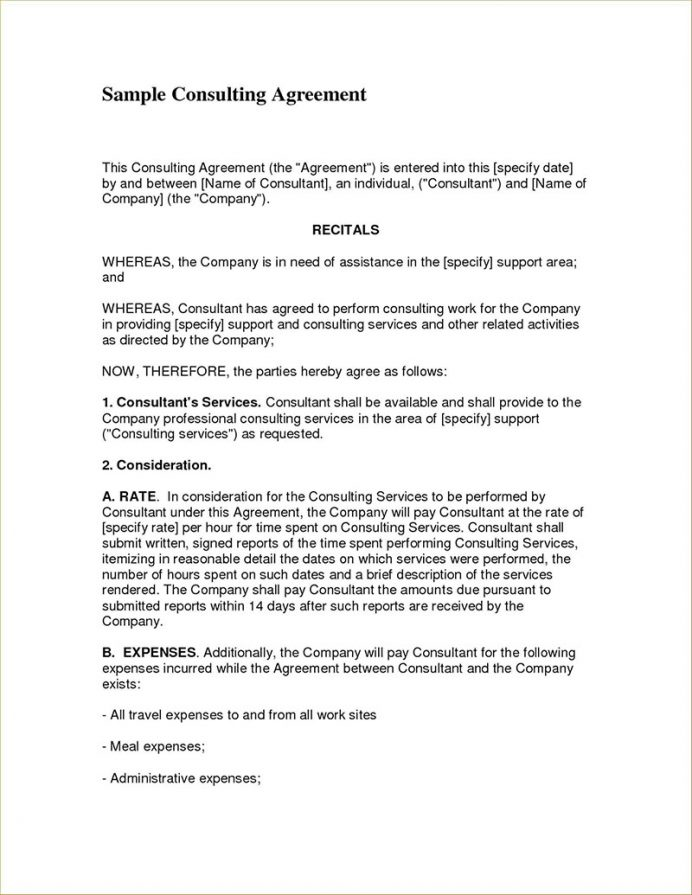 The client wishes to enter into a consulting relationship with gbs with the leons and conditions set forth in this agreement, and gbs is willing to accept such a consulting relationship. Consulting Contract Example Agreement Simple Template Addictionary Business Consultant
