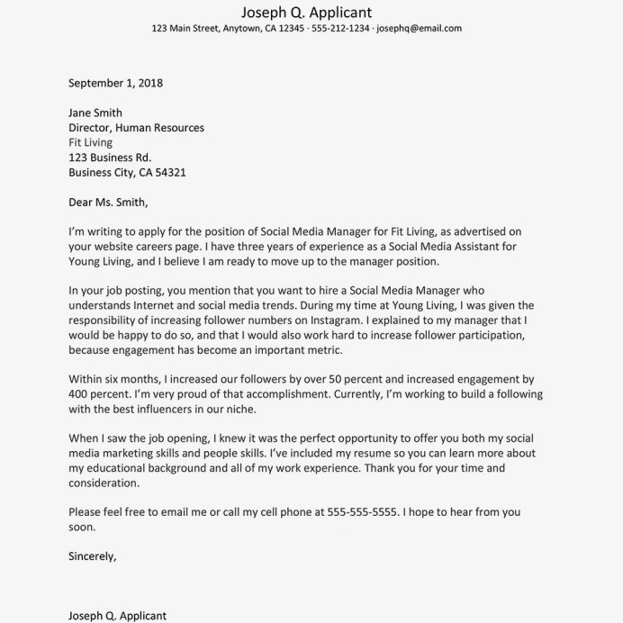 Top Cover Letter Examples In For All Professions Professional Template