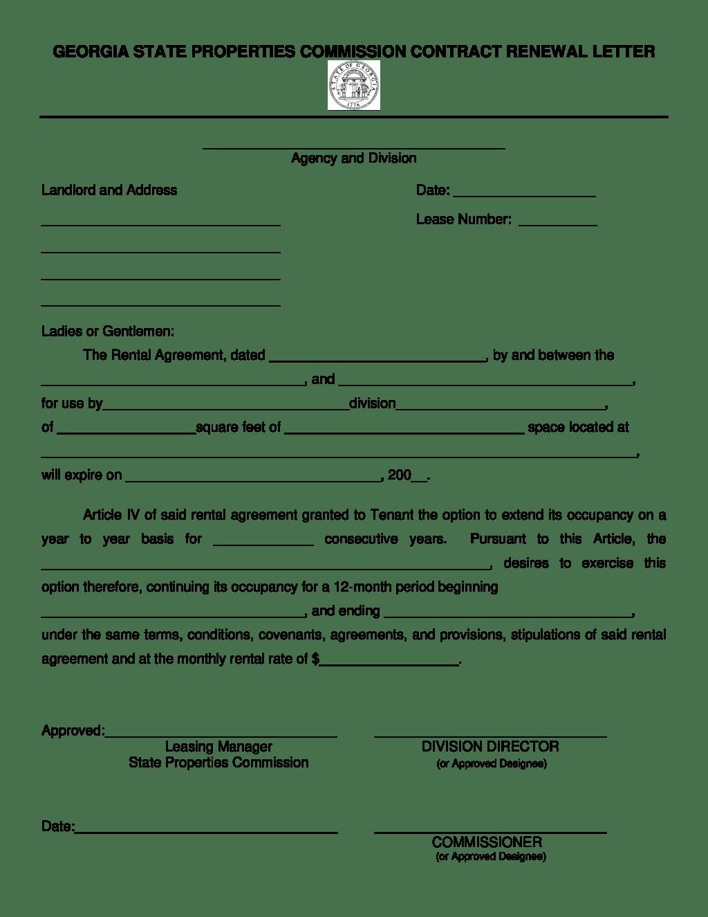 Renewal Application Letter Sample
