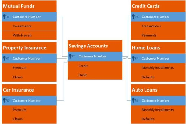 A Simple Schematic of Banking Datasets