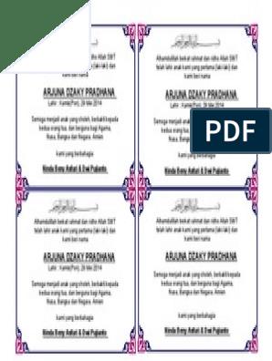 Kartu Ucapan Aqiqah Bisa Di Edit : kartu, ucapan, aqiqah, Kartu, Ucapan, Aqiqah, 298x396, Resolution