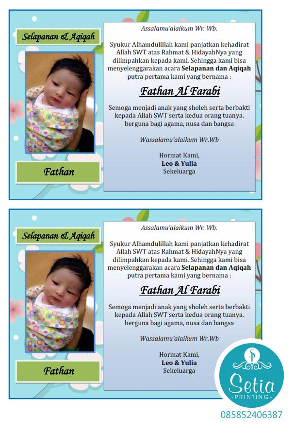 Download Ucapan Selapanan Bayi : download, ucapan, selapanan, Contoh, Undangan, Sepasaran, Gambaran