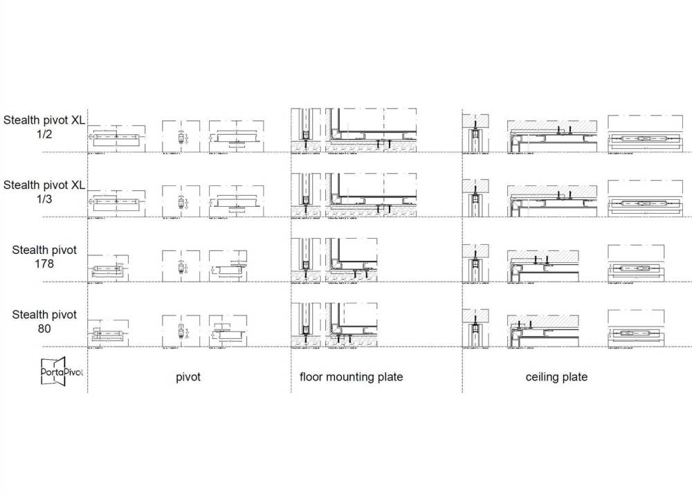 medium resolution of amazing stealth pivot dwg dxf files with offset pivot door hinge