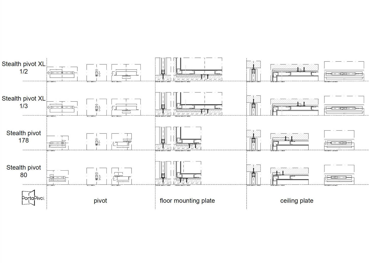 hight resolution of amazing stealth pivot dwg dxf files with offset pivot door hinge