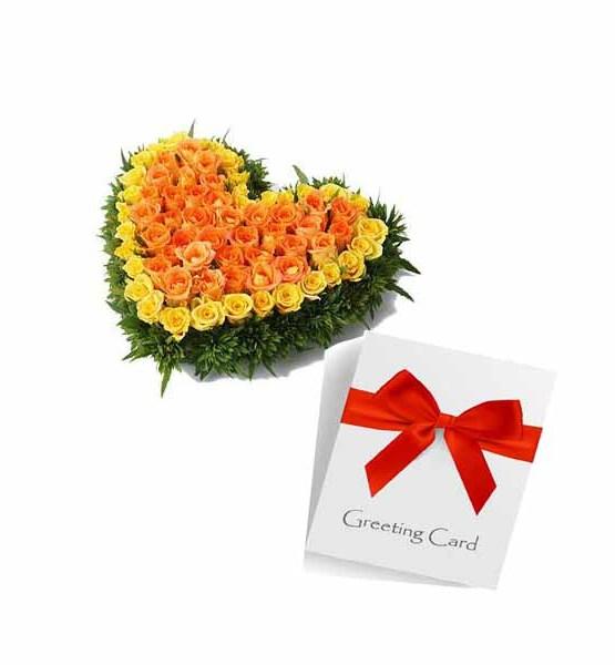 Mix Roses Heart arrangement