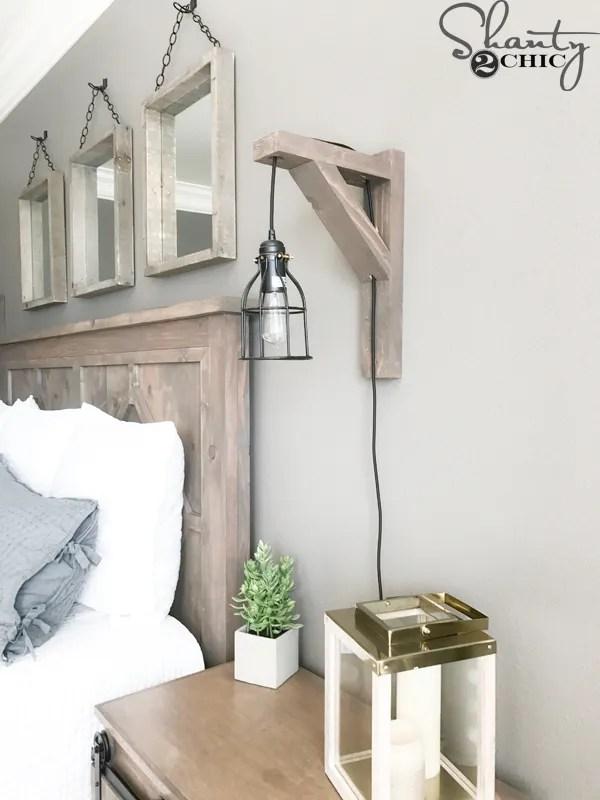 15 diy rustic farmhouse lamps