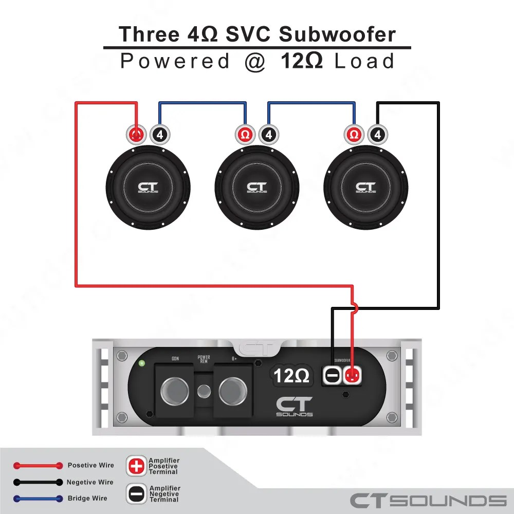 hight resolution of single 4 ohm subwoofers