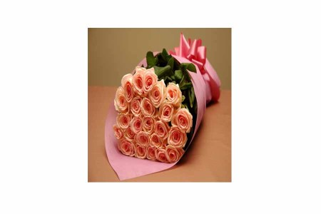 50 Pink Roses Hand Bunch