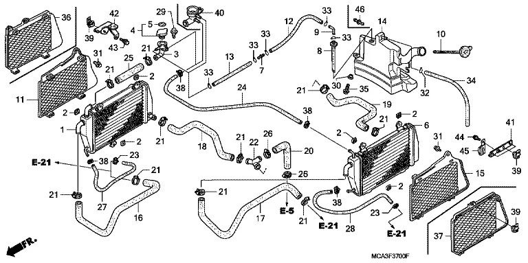 Genuine Honda Gold Wing GL1800 01-05 Popular Engine Parts