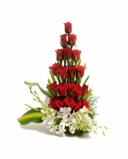 Roses & Orchids Basket