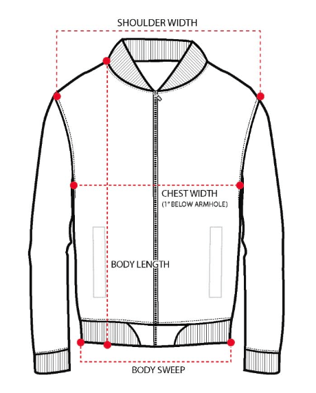 Men's Tops Size Guide