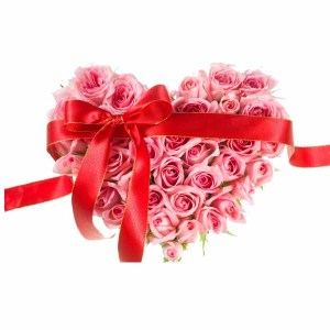 Pink Roses Heart shape arrangement