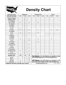 also density chart  marko foam blanks rh markofoamblanks