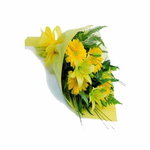 12 Mix Flowers (Lilies & Gerberas) Hand Bunch