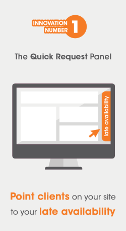 Visual showing the quick request panel from gappt for easy online salon booking