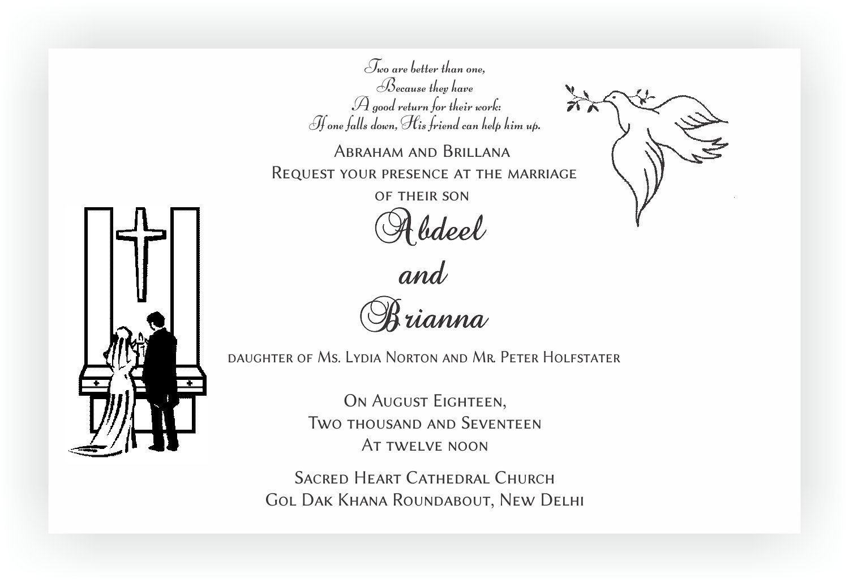 Christian Wedding Invitation Wordings – CHOCOCRAFT