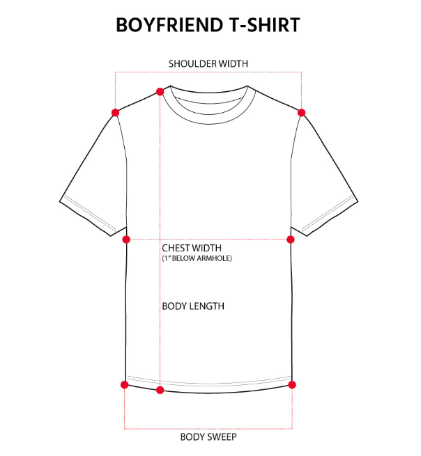 Ladies' Tops Size Guide