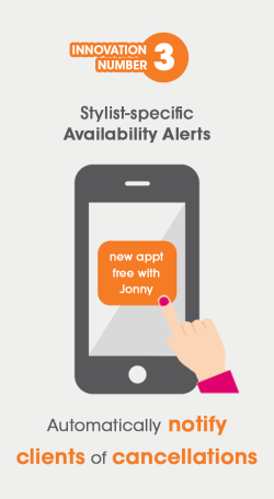 Visual showing availability alerts on mobile salon apps provided by gappt