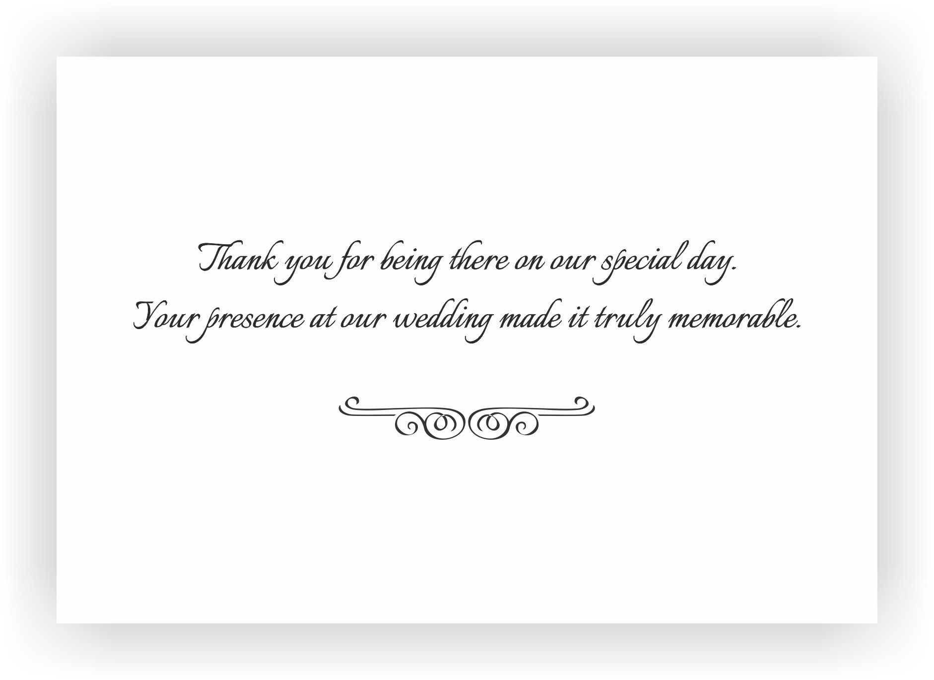 Wedding Present Message Wedding Thank You For A Large Amount Of