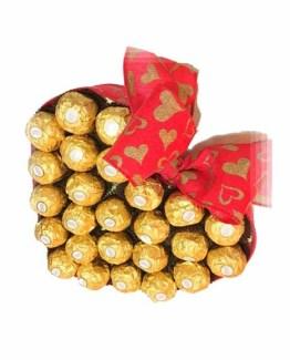 Heart Shape Chocolate Basket Arrangement