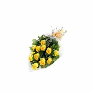 15 Yellow Roses Hand Bunch