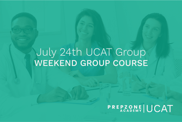 UCAT Weekend Group Course Schedule - July 24th, 2021