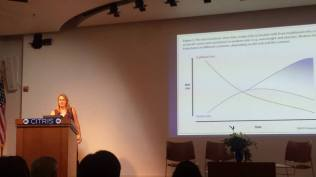 """Professor Lia Fernald from the UC Berkeley School of Public Health, talked about perplexing research findings and """"Perspectives on Malnutrition and the Dual Burden of Obesity."""""""