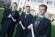 free pic no repro fee 18 oct 2016 Ciaran Williams Dingle, Denis Doherty Kilarney and Conor Nolan Tralee who graduated with a degree in Business Information Systems (BIS) from UCC on Tuesday, October 18th. Photography by Gerard McCarthy 087 8537228 more info contact Alison O'Brien Fuzion Communications 021 4271234 086 3879388