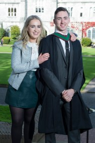 free pic no repro fee 18 oct 2016 Eleen O'Flynn with John O'Keeffe Rathmore who graduated with a degree in Business Information Systems (BIS) from UCC on Tuesday, October 18th. Photography by Gerard McCarthy 087 8537228 more info contact Alison O'Brien Fuzion Communications 021 4271234 086 3879388