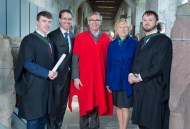 free pic no repro fee 18 oct 2016 David Merriman Bank of Ireland, Prof Ciaran Murphy Head of Cubs UCC and Patricia Lunch BIS UCC with Sean O'Sullivan Bishopstown and Bryan Considine Mayfield who graduated with a degree in Business Information Systems (BIS) from UCC on Tuesday, October 18th. Photography by Gerard McCarthy 087 8537228 more info contact Alison O'Brien Fuzion Communications 021 4271234 086 3879388