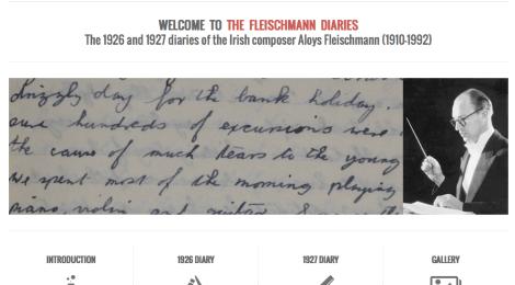 Digital Project: The Fleischmann Diaries