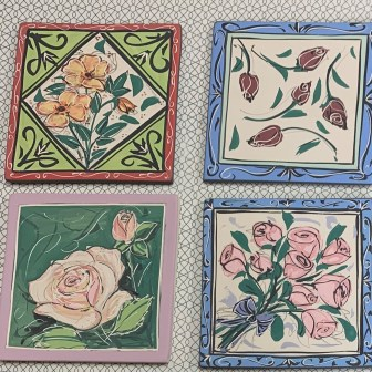 Rose Tiles by Mary Lou Pittard