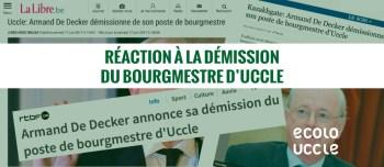 Ecolo Uccle réagit à la démission du bourgmestre de notre commune