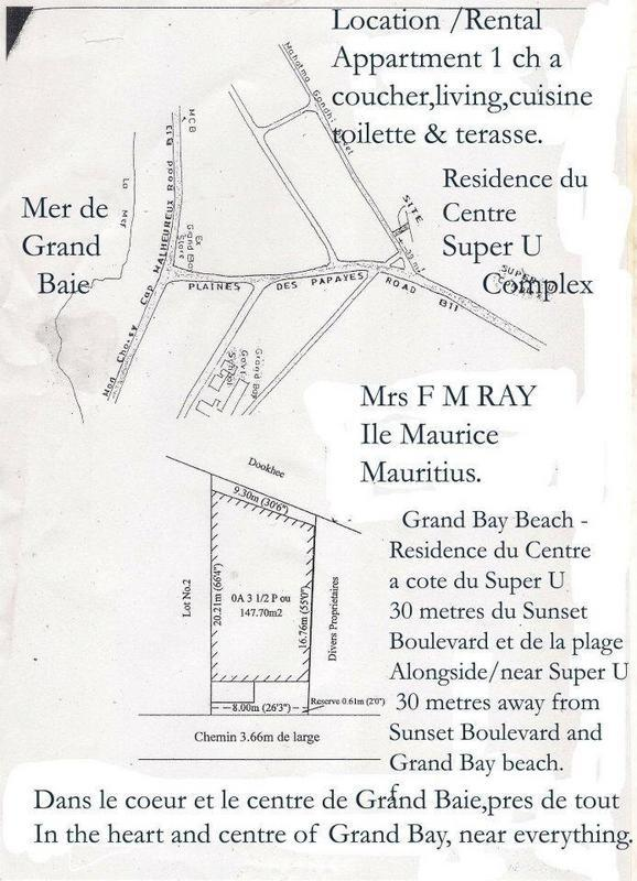 Grand Bay Beach-Apartment 14-Residence du Centre in Grand