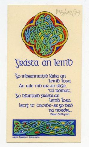 Christmas card to Ó Briain (UCDA P83/452)