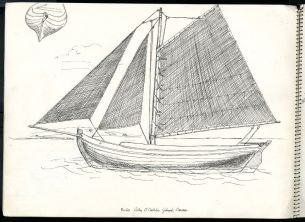 Boats - Colm Ó Caodháin's Púcán, Glinsk, Carna, Co. Galway, 1959