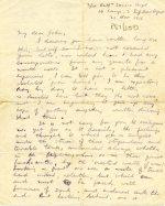 Letter describing life at the Front, 21 November 1916 (UCDA P57/200)
